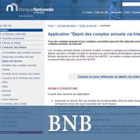 Site de la Banque Nationale de Belgique